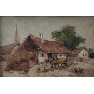 Gyorgy Nemeth (1890-1962) Zaprzęg przed chatą