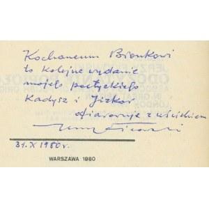 FICOWSKI Jerzy - Odczytanie popiołów. Wiersze [AUTOGRAF]