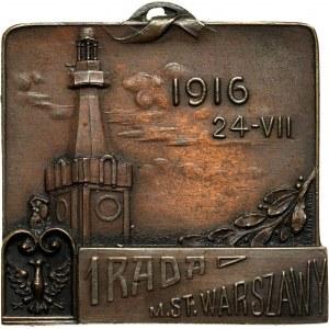 XX wiek, plakieta z 1916 roku, 1 Rada Miasta Stołecznego Warszawy