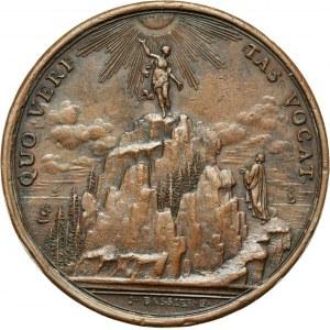 Great Britain, Samuel Clarke (1675-1729), bronze medal from 18th century