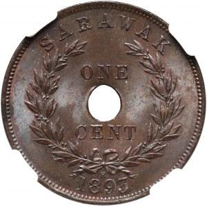 Sarawak, Rajah Charles J. Brooke, Cent 1893 H, Heaton