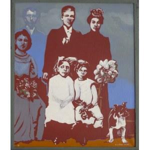 FAŁAT ANTONI, Bez tytułu (portret rodzinny z psem), 1991