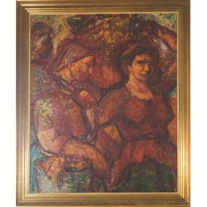 Janina Sussle - Muszkietowa (1903 - 1956), W sadzie (Zbiór owoców), ok.,1950 r.