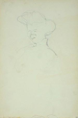 Włodzimierz Tetmajer (1861 - 1923), Szkic głowy młodej kobiety, ok. 1900