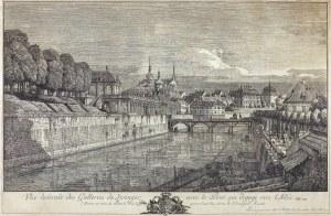 BELLOTTO zwany CANALETTO BERNARDO, WIDOK GALERII ZWINGER W DREŹNIE, 1758