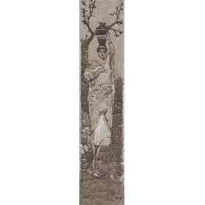 Kotarbiński Wilhelm, KOBIETA Z WAZONEM NA GŁOWIE, PRZED 1900
