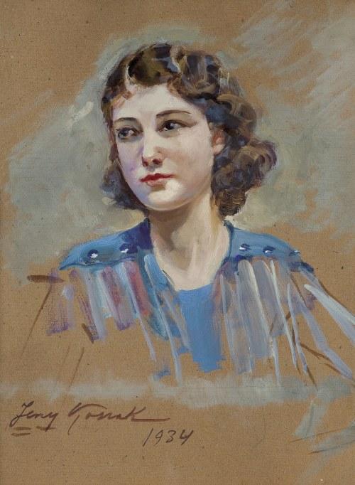 Kossak Jerzy, PORTRET MŁODEJ KOBIETY, 1934