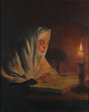 Feliks Michał Wygrzywalski (1875-1944), Zakonnica czytająca przy świecy, 1924