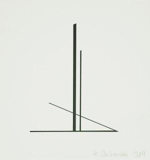 Henryk Stażewski (1894-1988), KOMPOZYCJA GEOMETRYCZNA (TRYPTYK), 1984 r.