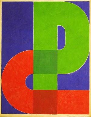 """Henryk Stażewski (1894-1988), KOMPOZYCJA """"P"""", 1978 r."""