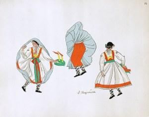 Zofia Stryjeńska (1894-1976), STRÓJ LUDOWY Z REGIONU TATRZAŃSKIEGO - TABLICA NR 14, 1939 r.