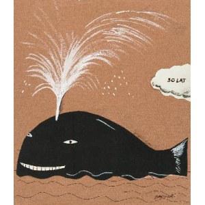 Hanna Bakuła (ur. 1950 r.), Projekt kartki urodzinowej-Wieloryb