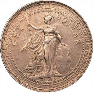 WIELKA BRYTANIA - Azja Wschodnia - 1 dolar handlowy 1899 - B Bombaj -
