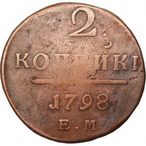 ROSJA - Paweł I (1796-1801) - 2 kopiejki 1798 - EM, Jekaterinburg