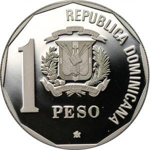 DOMINIKANA - 1 peso 1990 - 500 rocznica Odkrycie i ewangelizacja Ameryki