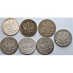 II RP - Zestaw 7 sztuk monet - 2 złote (1932-1934) Głowa Kobiety