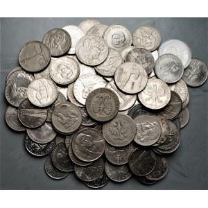 PRL - Zestaw monet miedzioniklowych - 106 sztuk