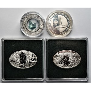 Zestaw 4 monet kolekcjonerski - 200.000 zł 1991 + 3 x 10 złotych (2008-2010)