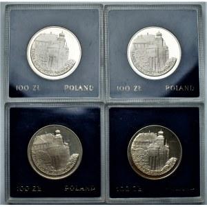 PRL - zestaw 4 sztuk 100 złotych 1977 - Zamek Królewski na Wawelu