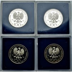 PRL - zestaw 4 sztuk 100 złotych 1976 - Kazimierz Puławski