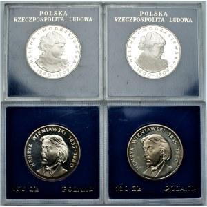 PRL - zestaw 4 sztuk 100 złotych (1975,1979) - Modrzejewska, Wieniawski