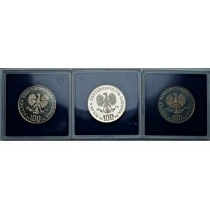 PRL - zestaw 3 sztuk 100 złotych 1975 - Ignacy Jan Paderewski