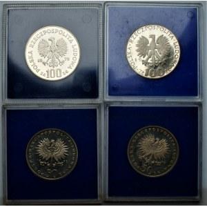 PRL - zestaw 4 monet kolekcjonerskich (1972-1978) - Chopin, Skłodowska, Mickiewicz