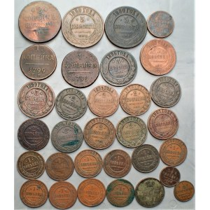 ROSJA - zestaw kopiejek (1799-1913) - różne nominały i roczniki
