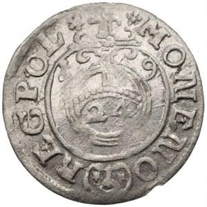 Zygmunt III Waza (1587-1632) - Półtorak 1619 Bydgoszcz – POL na końcu legendy na rewersie, rzadka odmiana