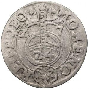 Zygmunt III Waza (1587-1632) - Półtorak 1627 Bydgoszcz – Półkozic z kropkami. Rzadsza odmiana