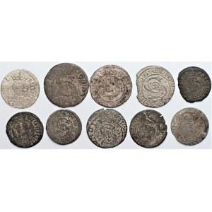 Zygmunt III Waza (1587-1632) - Zestaw szelągów 10 sztuk- Kolekcja Górecki