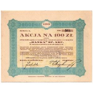 HANKA - Górnośląska Fabryk Czekolady i Cukrów w Siemianowicach Śląskich - 100 zł 1928