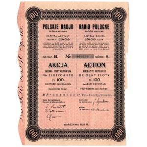 Polskie Radio Spółka Akcyjna - 100 złotych 1926