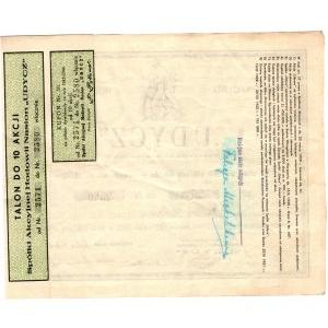 Spółka Akcyjna Hodowli Nasion UDYCZ Warszawa - 10 x 150 złotych - imienna