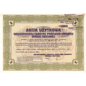 Goleszowska Fabryka Portland-Cementu S.A. - 1933 rok - akcja użytkowa