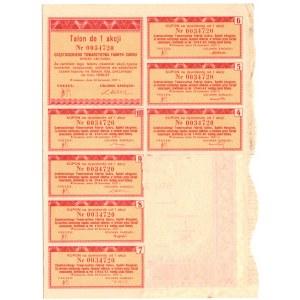 Częstocickie Towarzystwo Fabryk Cukru S.A. - 100 złotych 1937