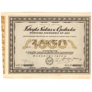 Fabryka Sukna w Opatówku dawniej Fiedlera - Em.3 - 2 x 500 mkp 1924