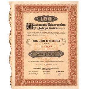 Warszawskie Towarzystwo Fabryk Cukru - 1 x 100 złotych 1937