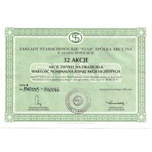 Zakłady Starachowickie STAR Spółka Akcyjna - 32 x 10 złotych 1995