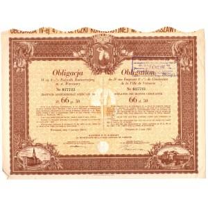 Obligacja IV emisji 4 1/2% Pożyczki Konwersyjnej m. st. Warszawy - 66 złotych i 50 groszy 1931