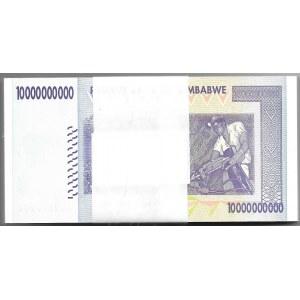 ZIMBABWE - paczka bankowa 100 x 10 billion dollars 2008