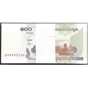 KAMBODŻA - paczka bankowa 100 x 100 reils 2001