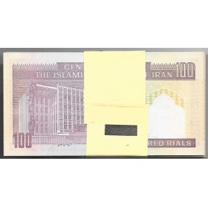 IRAN - paczka bankowa 100 x 100 rials bez daty (1985-