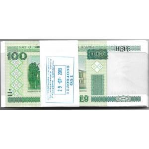 BIAŁORUŚ - paczka bankowa 100 x 100 rubli 2000