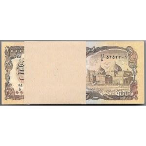 AFGANISTAN - paczka bankowa 100 sztuk 1000 Afghanis n.d (1979-91)
