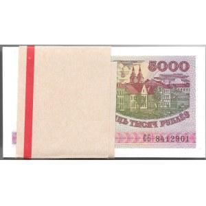 BIAŁORUŚ - paczka bankowa 100 x 5.000 rubli 1998
