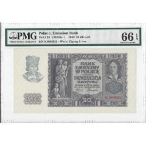 20 złotych 1940 - K - PMG 66 EPQ