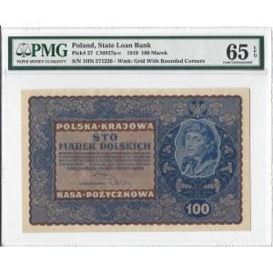 100 marek polskich 1919 - IH Serja N - PMG 65 EPQ
