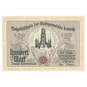 GDAŃSK / DANZIG - 100 marek 1922