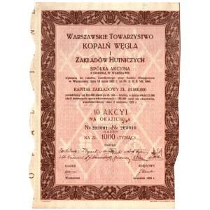 Warszawskie Towarzystwo Kopalń Węgla i Zakładów Hutniczych - 10 x 100 złotych 1929